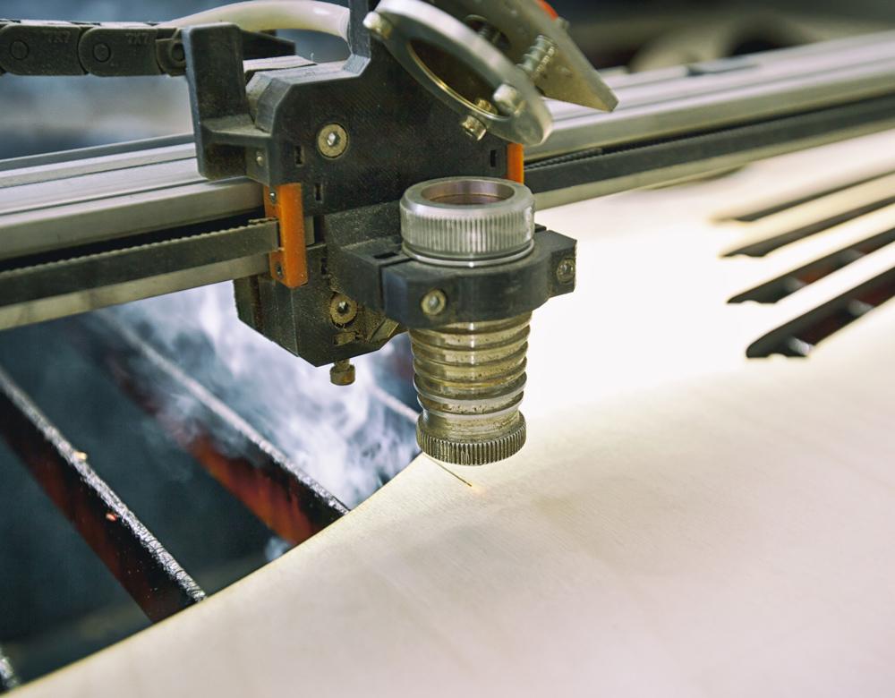 Laserowa obróbka drewna